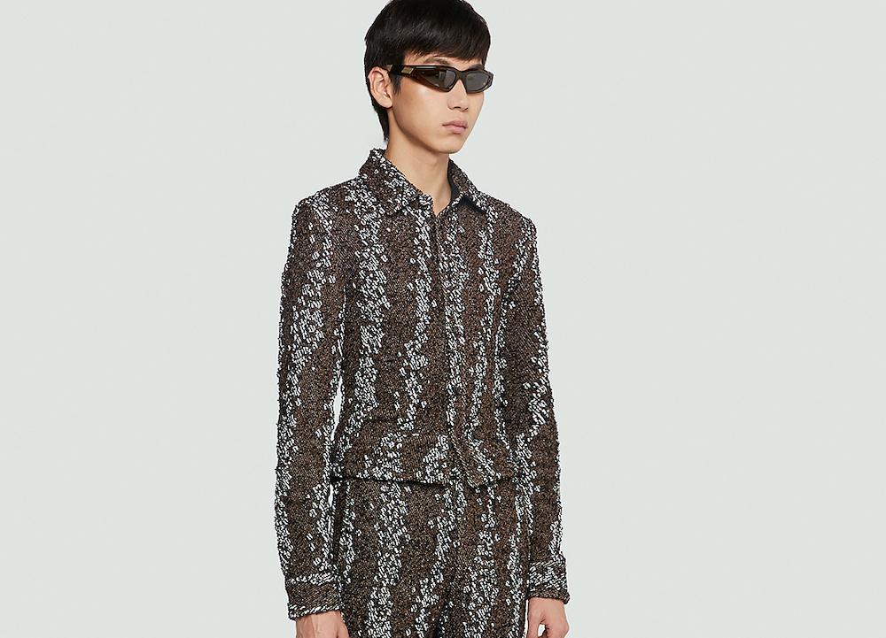 PAUSE or Skip: Bottega Veneta Bubble Shirt & Trousers Set