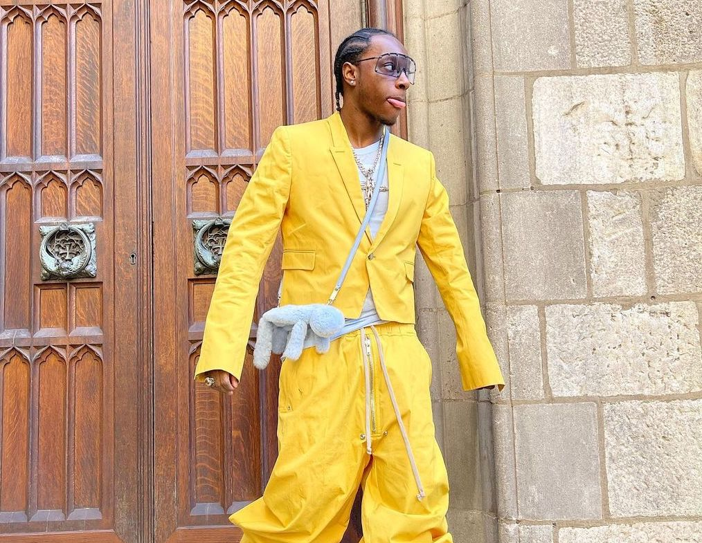 SPOTTED: Bloody Osiris in All-Yellow Rick Owens Ensemble