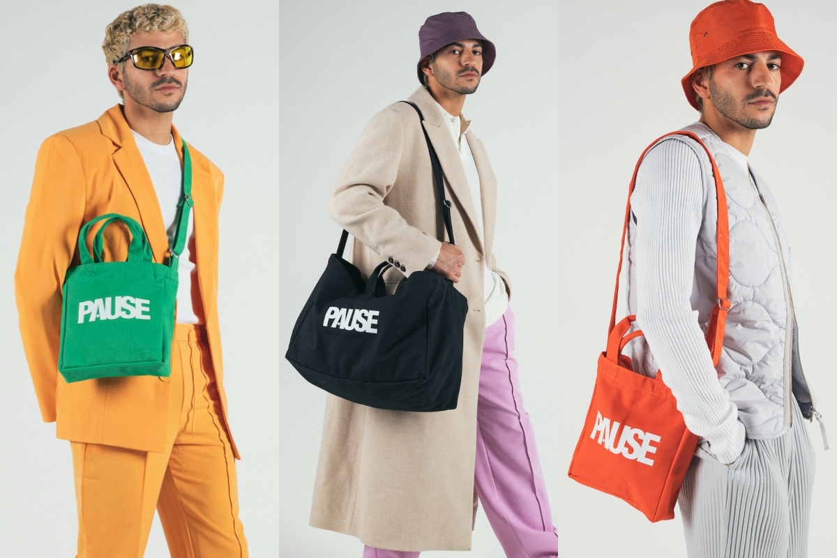 PAUSE Tote Bags are back with new Mini & Large 'On-The-Go' Edition