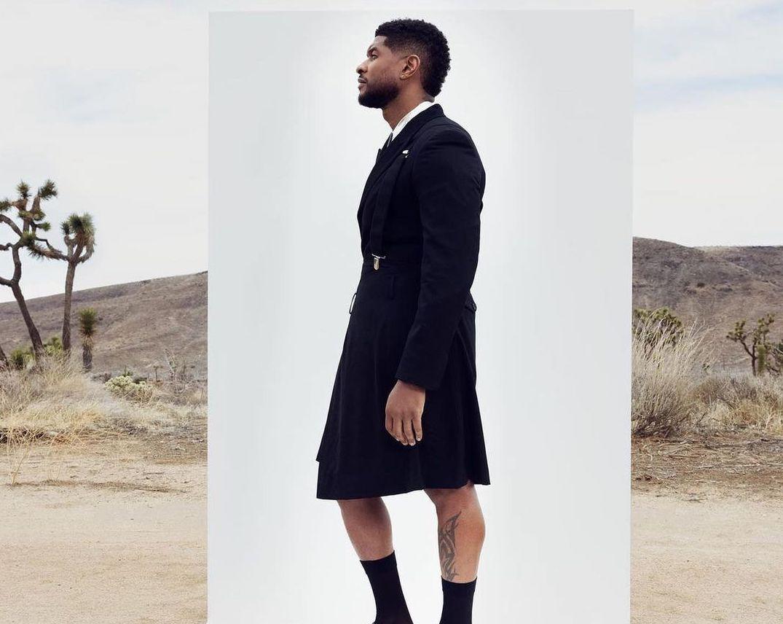 SPOTTED: Usher dons Comme des Garçons for L'Officiel Hommes Italia