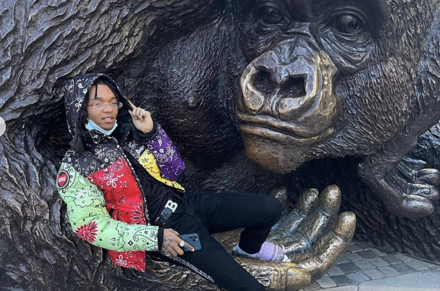 SPOTTED: Swae Lee Gets Into The Easter Spirit with Kaleidoscopic Fit