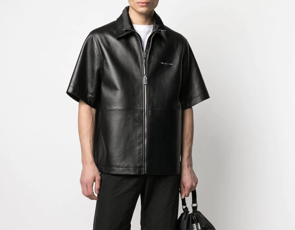 PAUSE or Skip: 1017 ALYX 9SM Logo-Plaque Leather Shirt