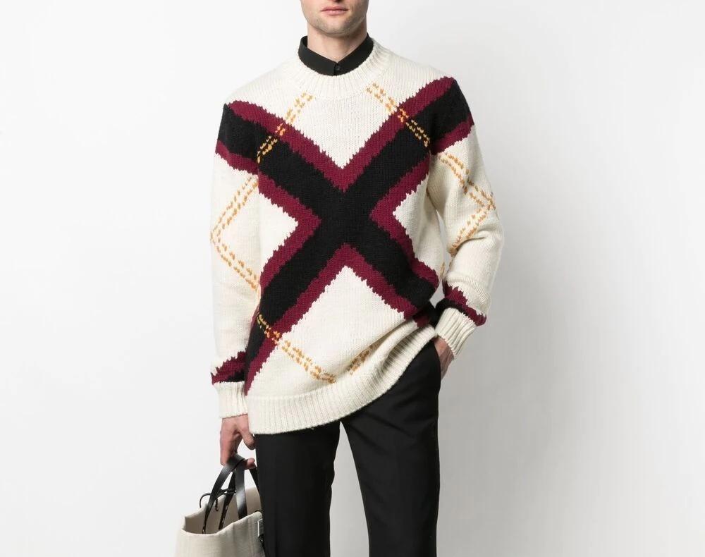 PAUSE or Skip: Alexander McQueen Argyle Intarsia-Knit Jumper