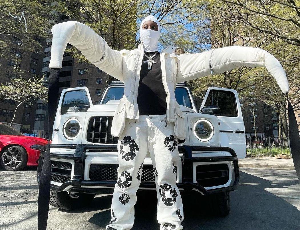 SPOTTED: Bloody Osiris in NYC wearing Hood by Air, Denim Tears & Bottega Veneta