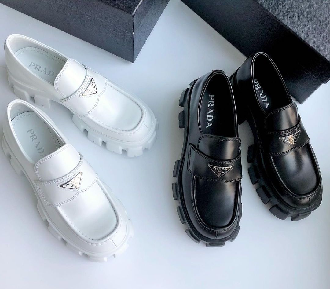 PAUSE or Skip: Prada Monolith Brushed Leather Loafers