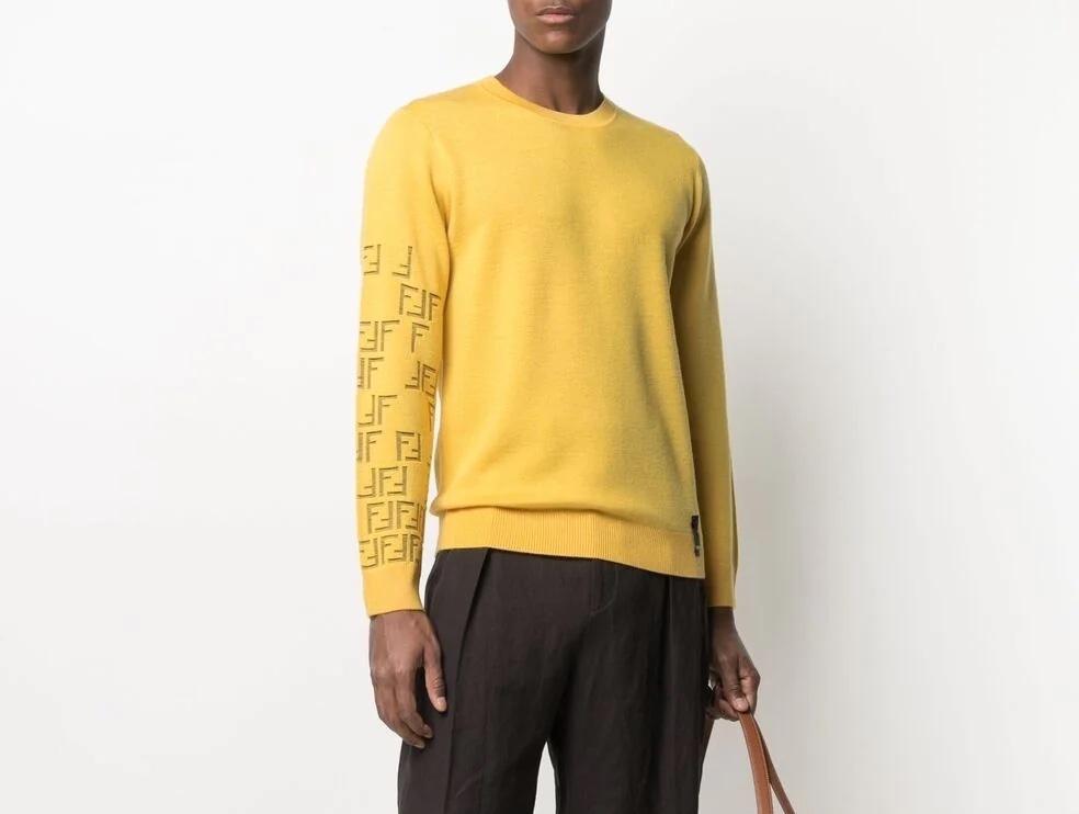 PAUSE or Skip: Fendi FF-Motif Wool Blend Sweatshirt
