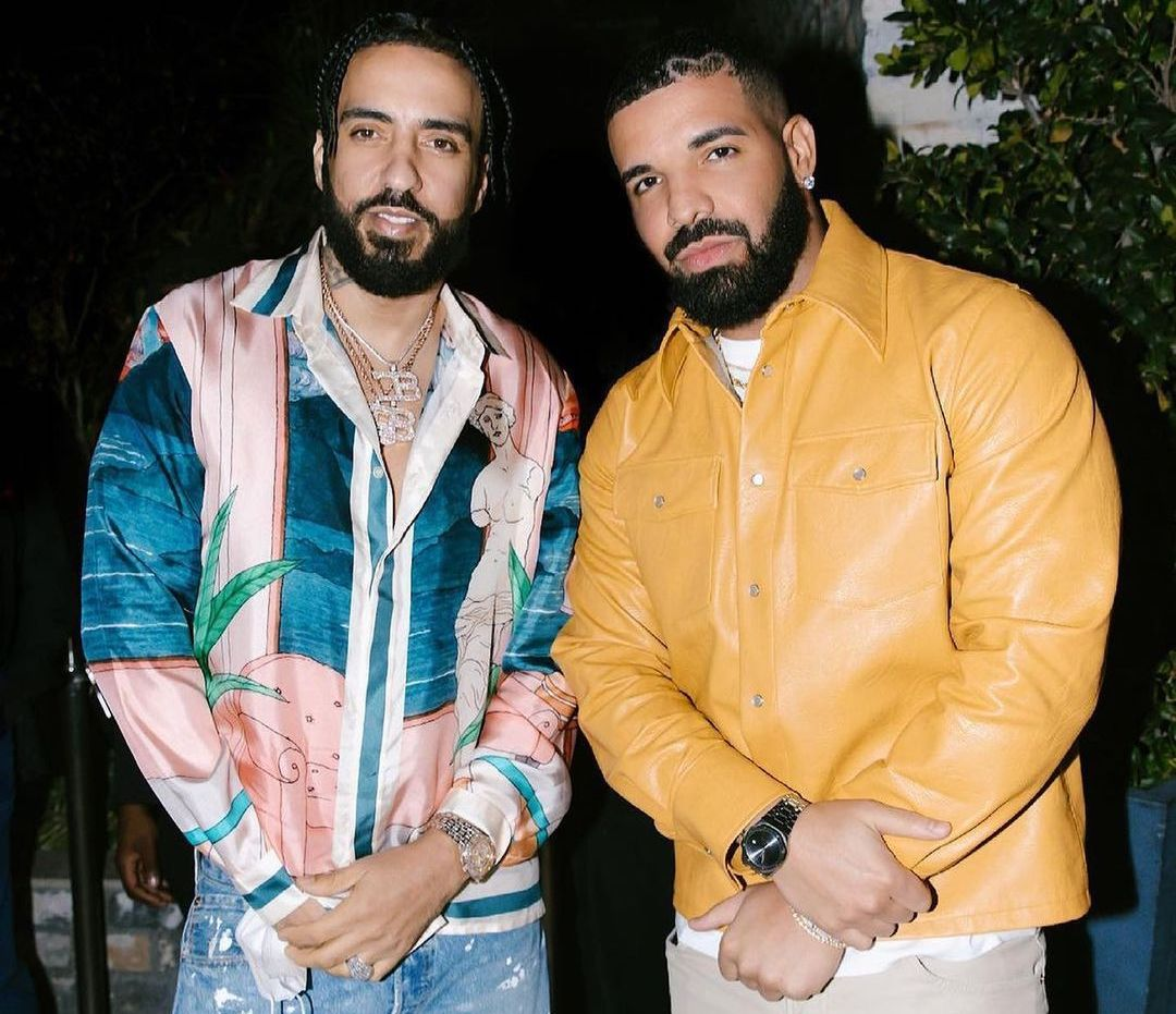 SPOTTED: French Montana & Drake in Séfr & Audemars Piguet by ALYX x MAD Paris