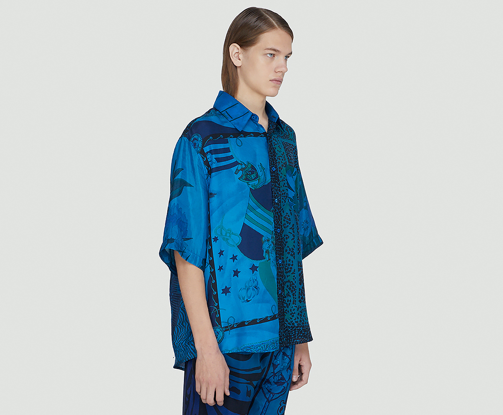 PAUSE or Skip: Marine Serre Regenerated Silk Scarves Shirt