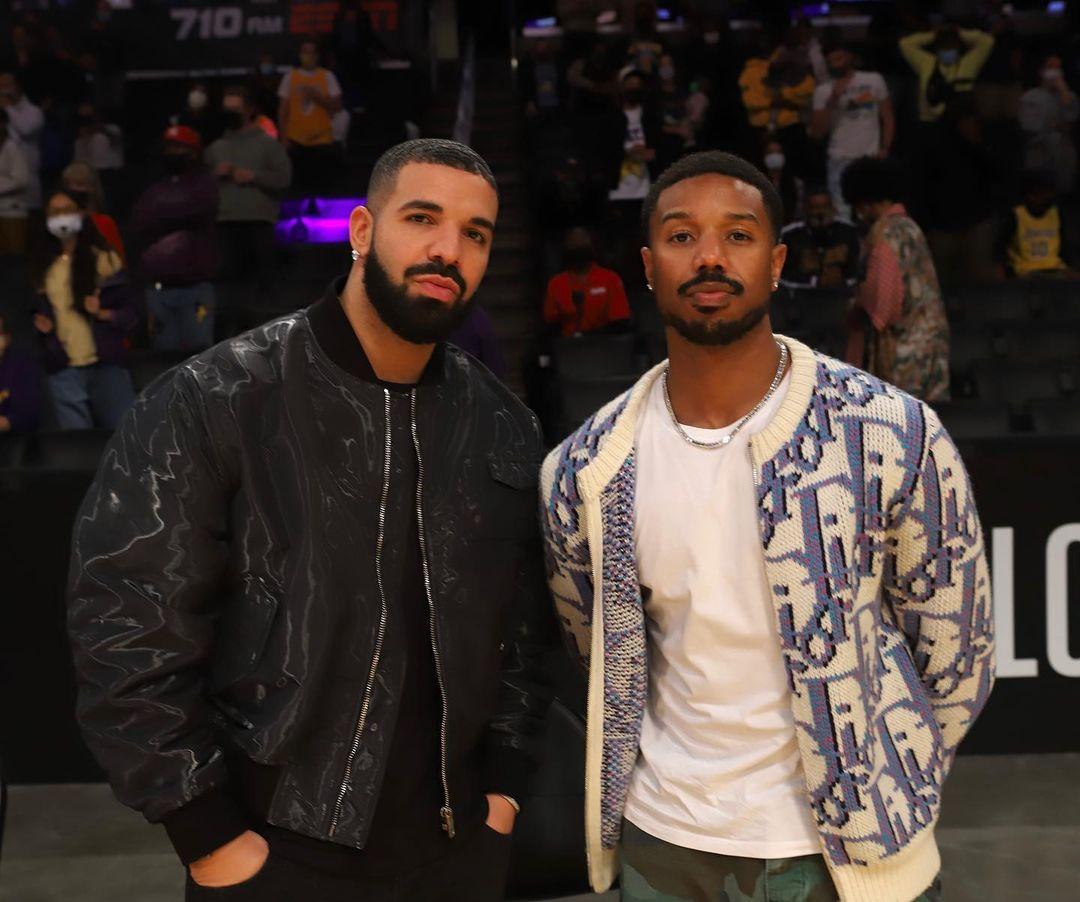 SPOTTED: Drake & Michael B. Jordan Courtside in Dior Men