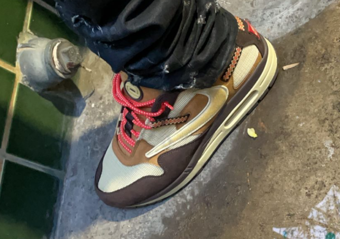 Travis Scott Spotted in Nike Air Max 1 X Cactus Jack Collaboration