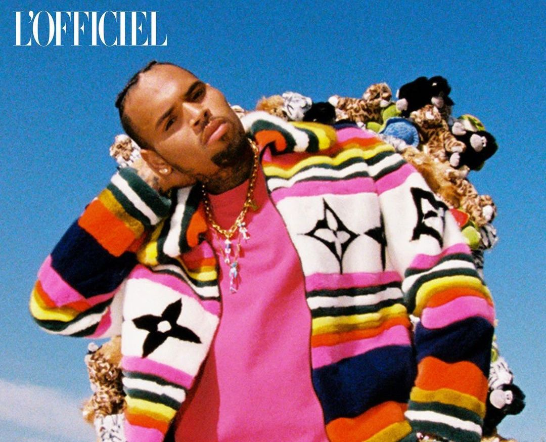 SPOTTED: Chris Brown in Louis Vuitton Menswear for L'Officiel India
