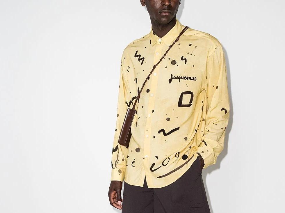 PAUSE or Skip: Jacquemus Henri Abstract-Print Shirt