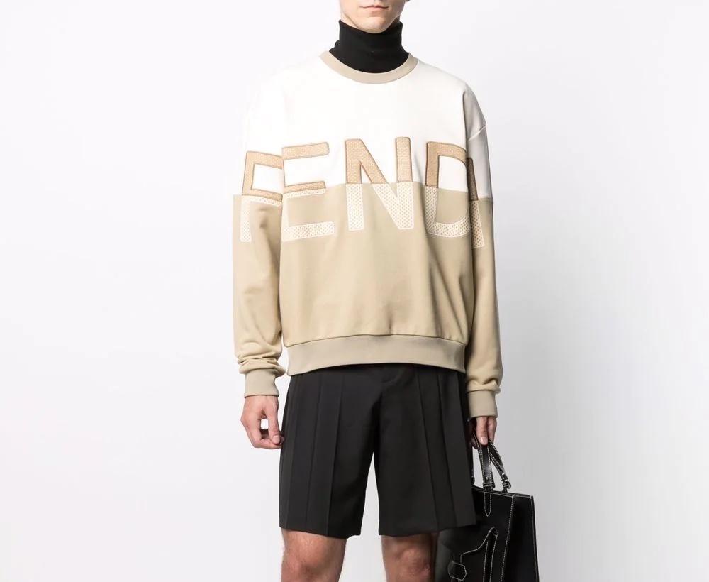 PAUSE or Skip: Fendi Embroidered Logo Sweatshirt