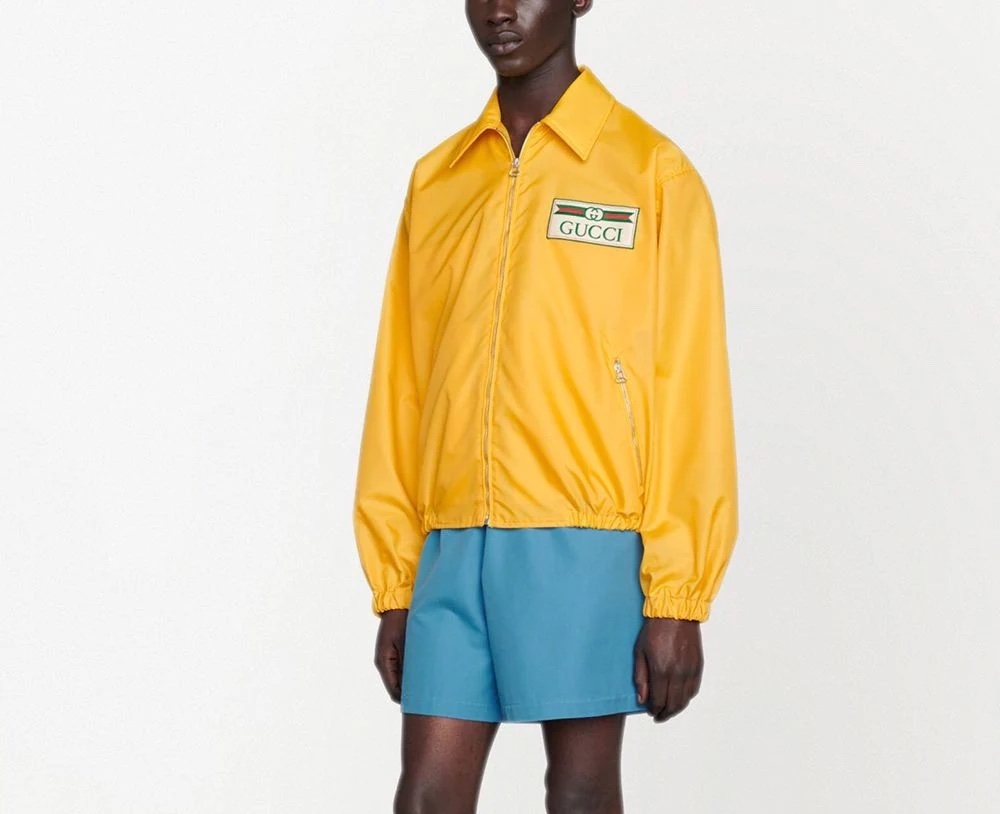 PAUSE or Skip: Gucci Yellow Logo-Patch Jacket