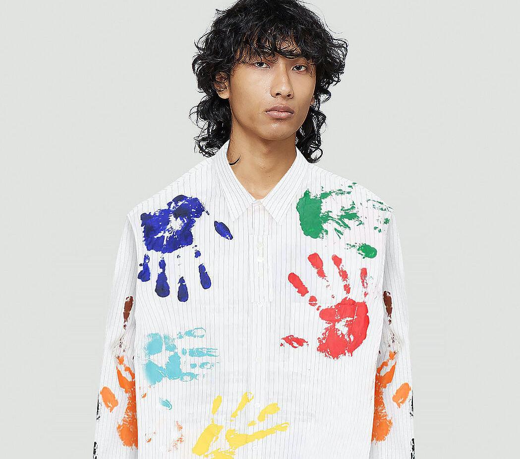 PAUSE or Skip: Lanvin x Gallery Department Paint Splattered Shirt