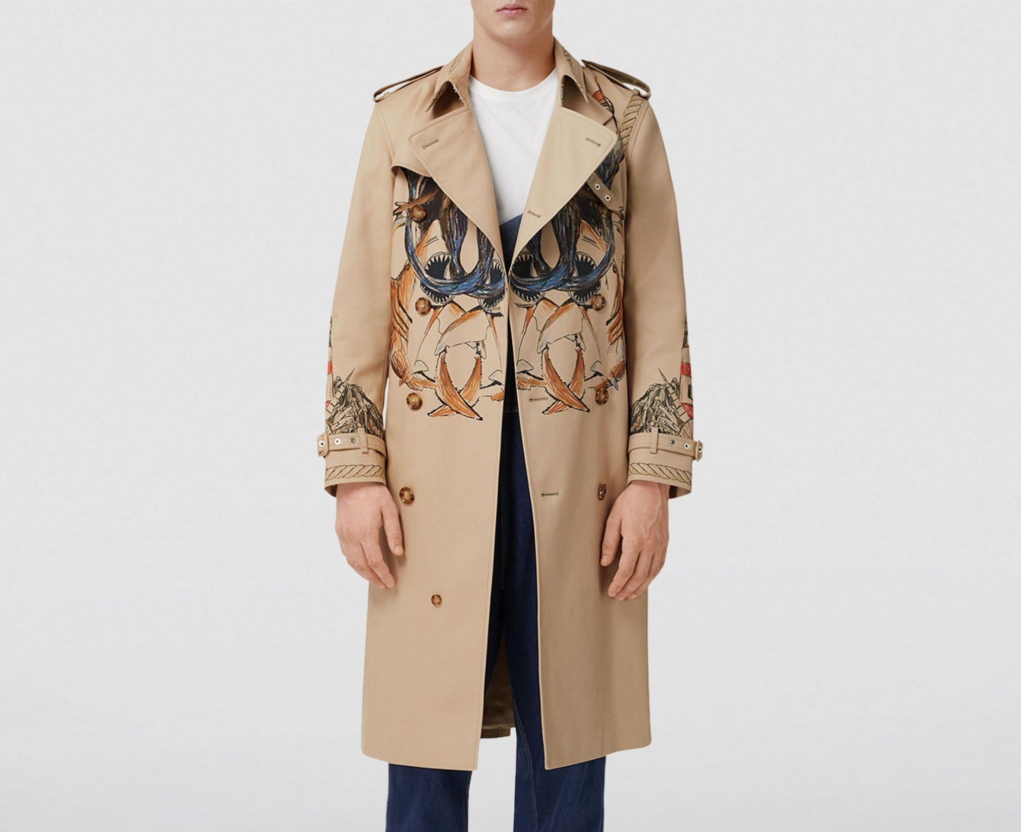 PAUSE or Skip: Burberry Marine Sketch Trench Coat