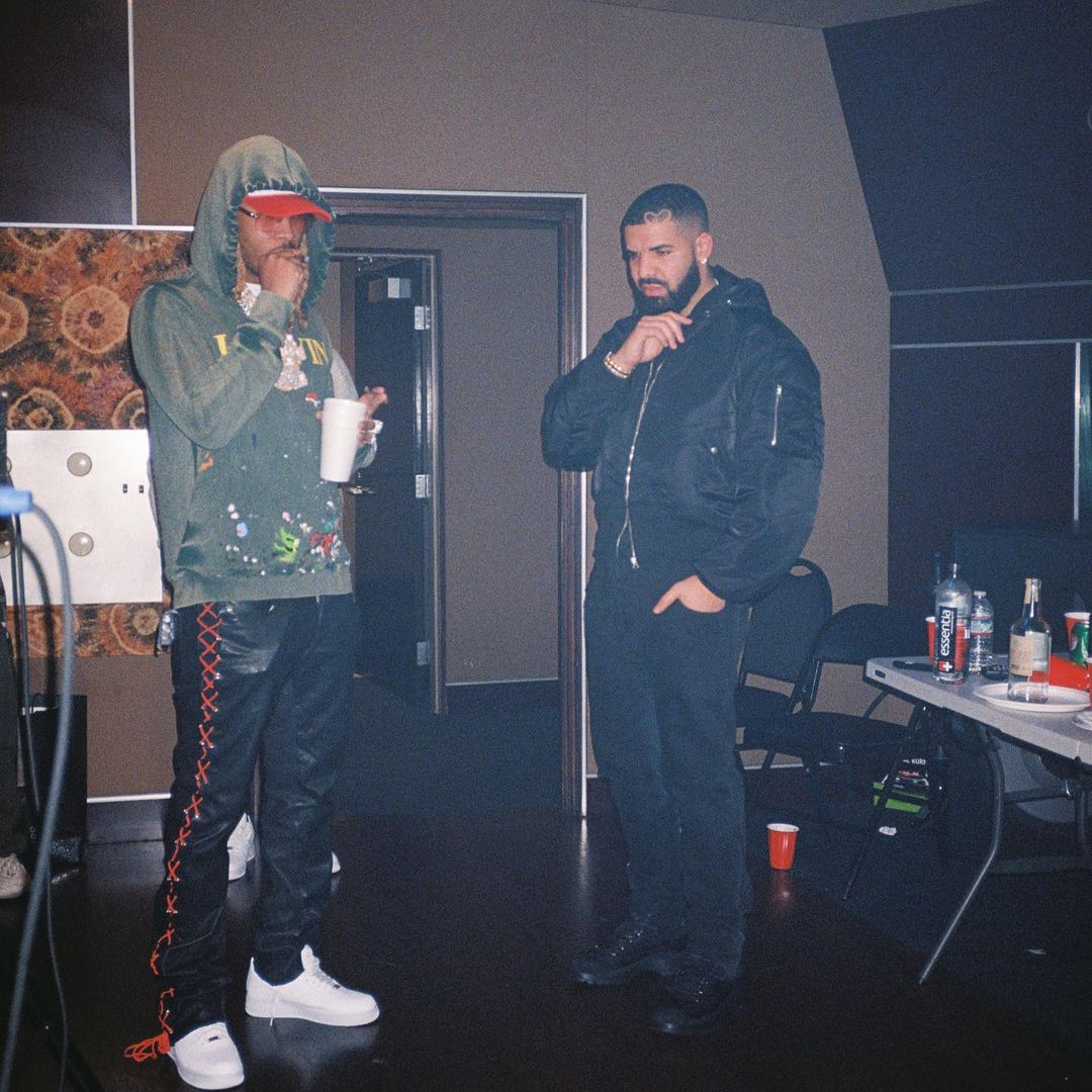SPOTTED: Drake, Future and Metro Booming Working in a Studio