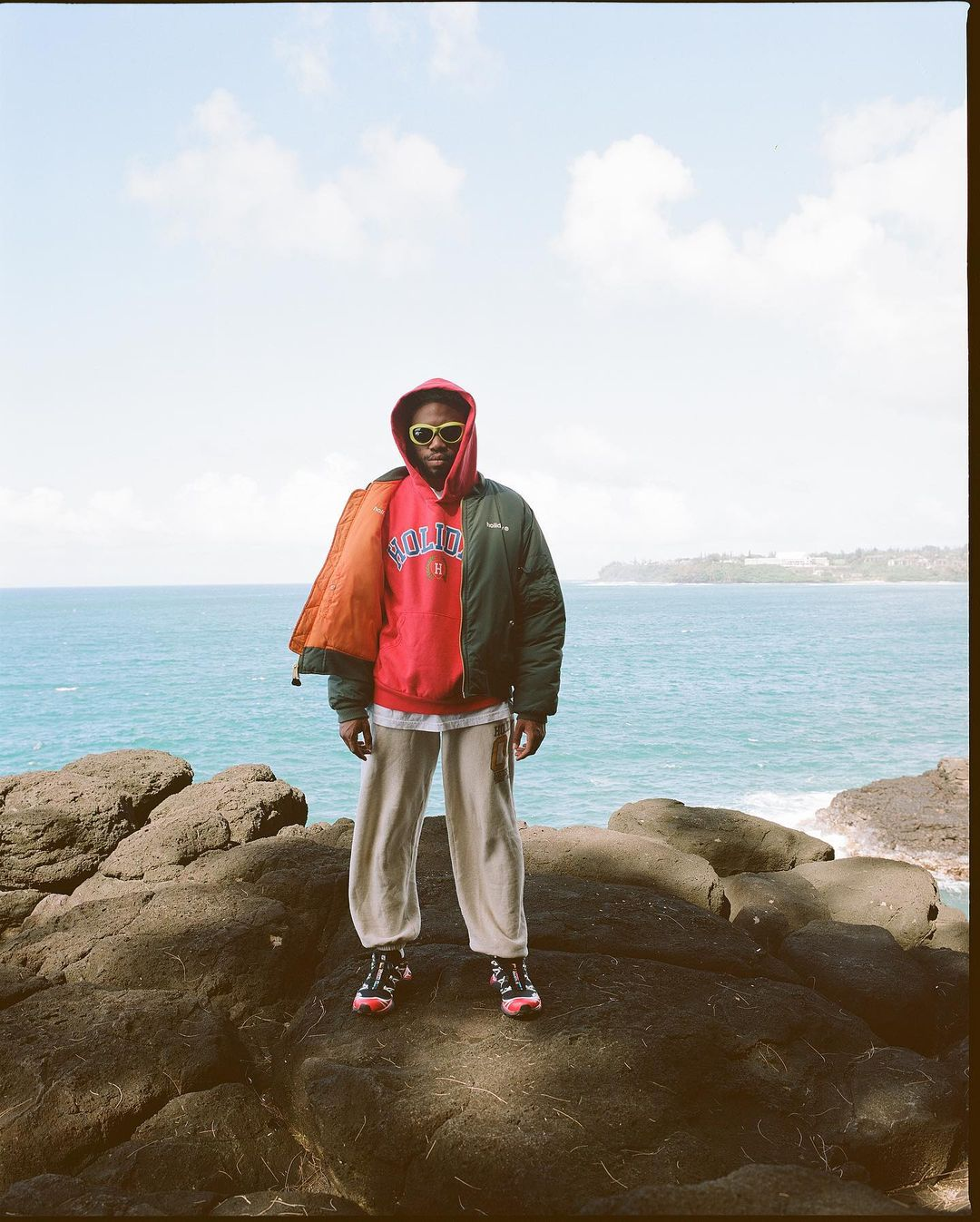 SPOTTED: Kevin Abstract models for streetwear label Holiday