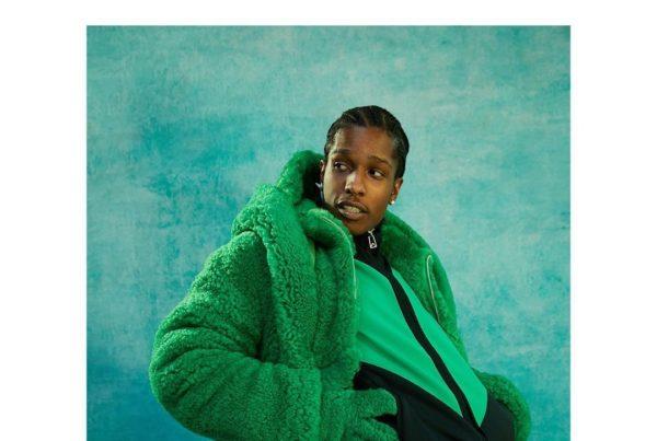 A$AP Rocky Poses in Full Green Bottega Veneta Fit