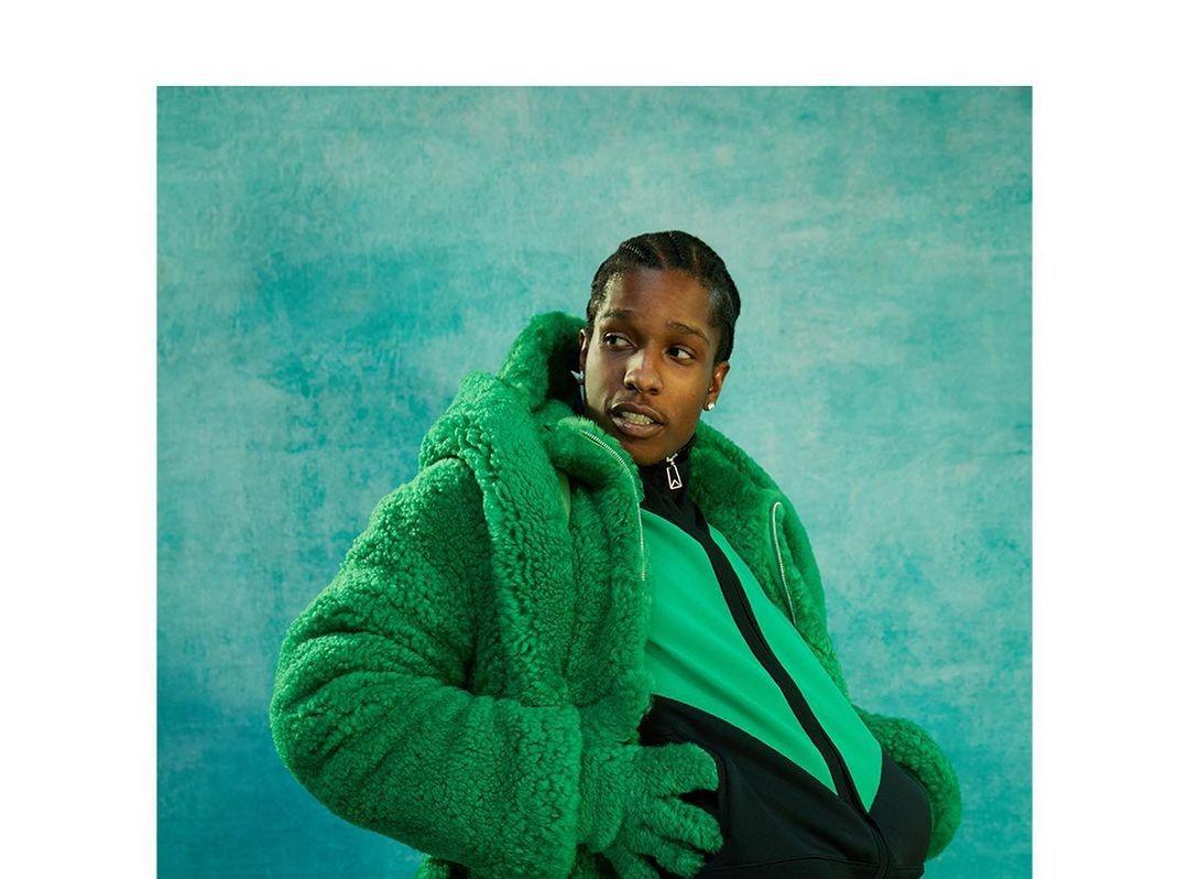 SPOTTED: A$AP Rocky Poses in Full Green Bottega Veneta Fit