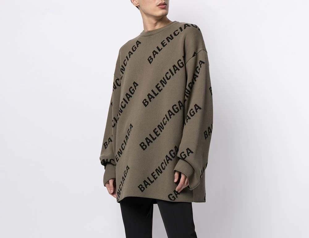 PAUSE or Skip: Balenciaga Logo-Intarsia Sweater