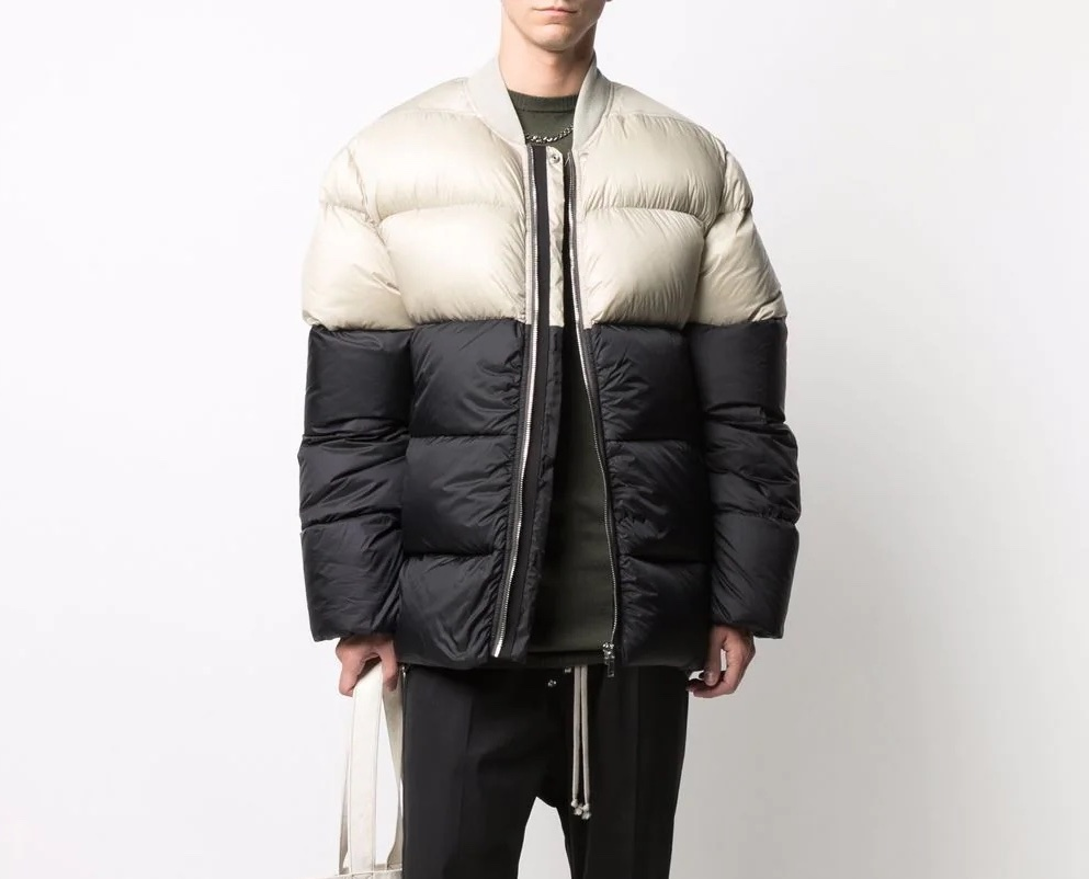 PAUSE or Skip: Rick Owens Two-Tone Padded Jacket