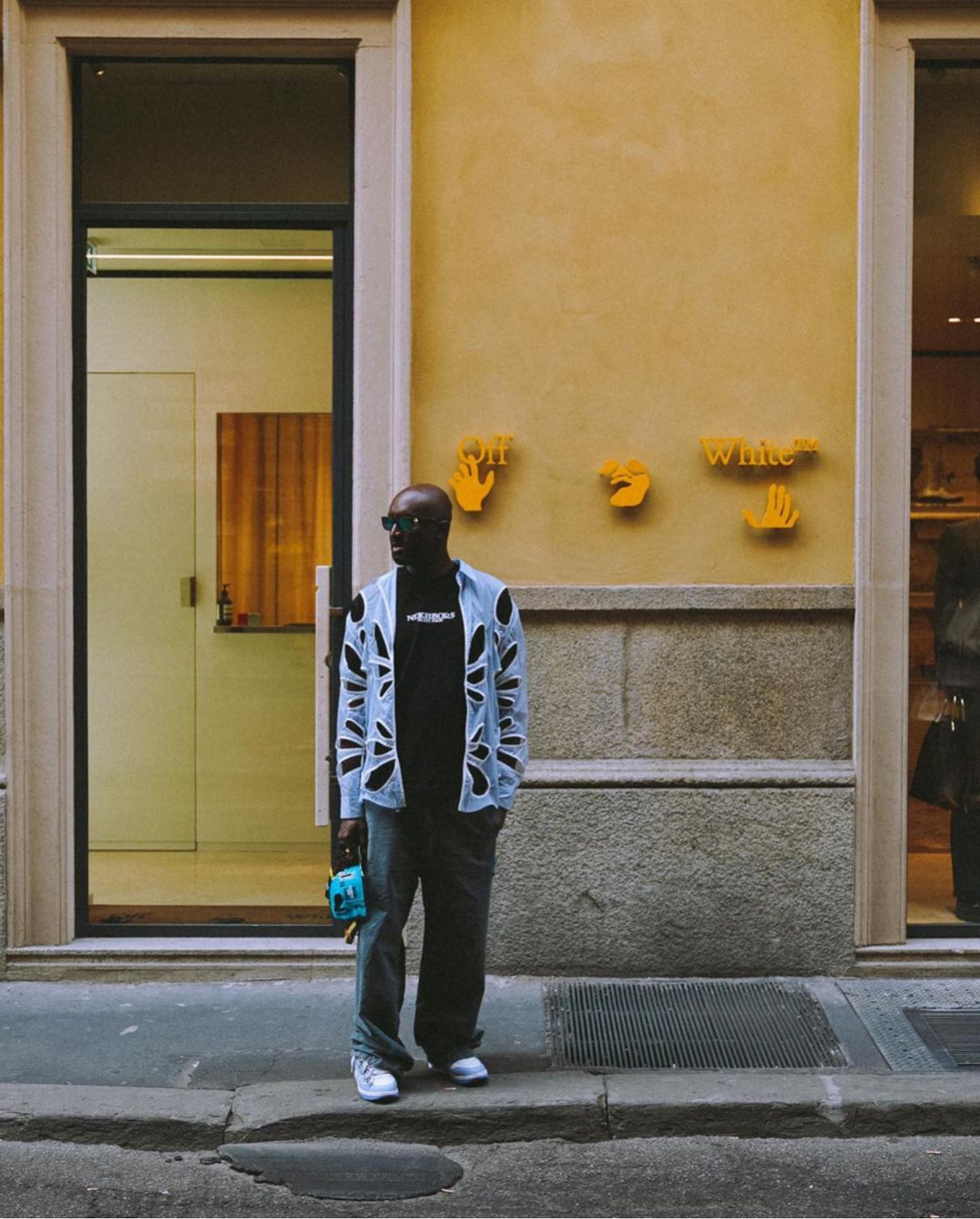 SPOTTED: Virgil Abloh Visits Off-White's Milan Outpost