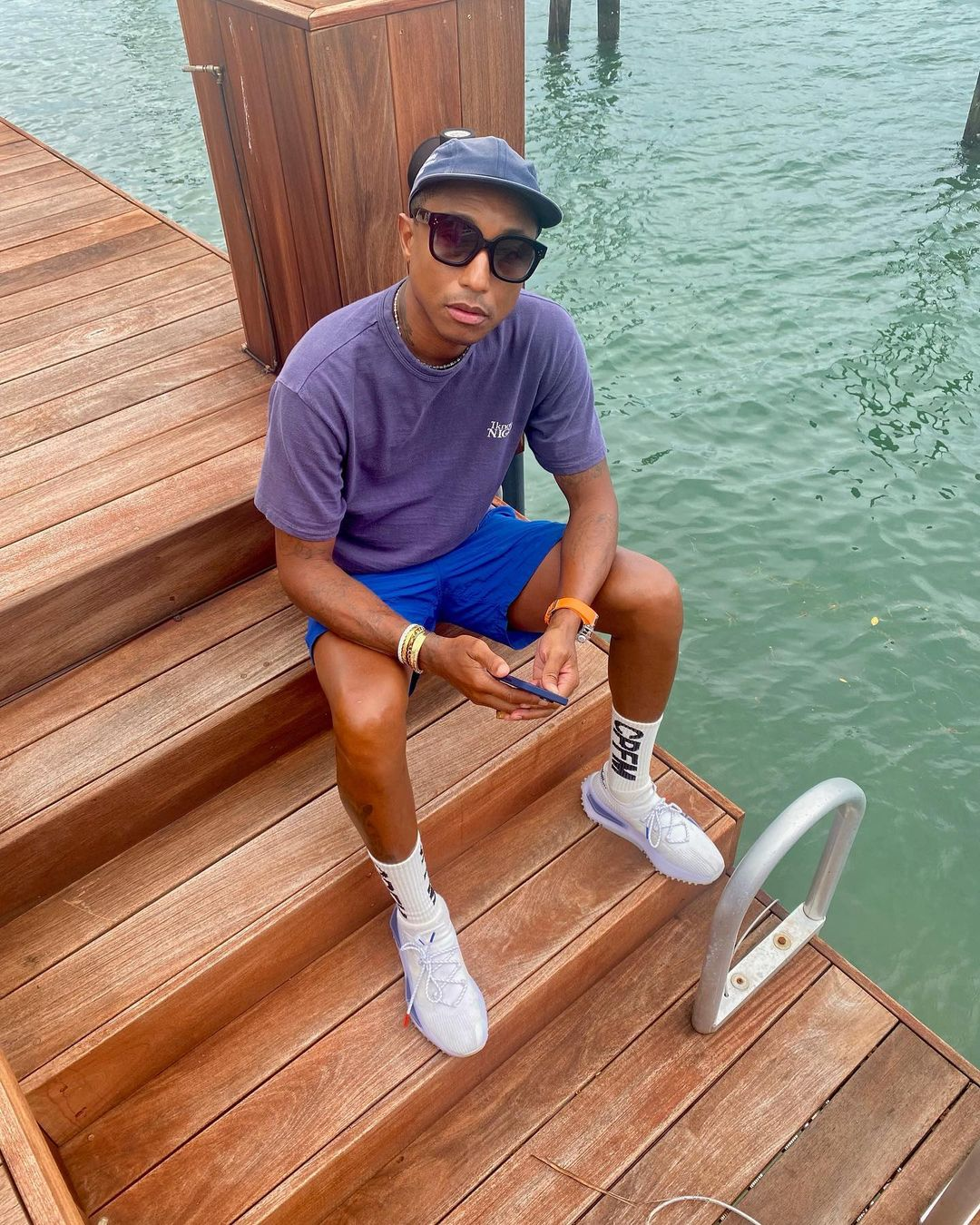 SPOTTED: Pharrell Williams Colour Blocks in Human Made by the Coast