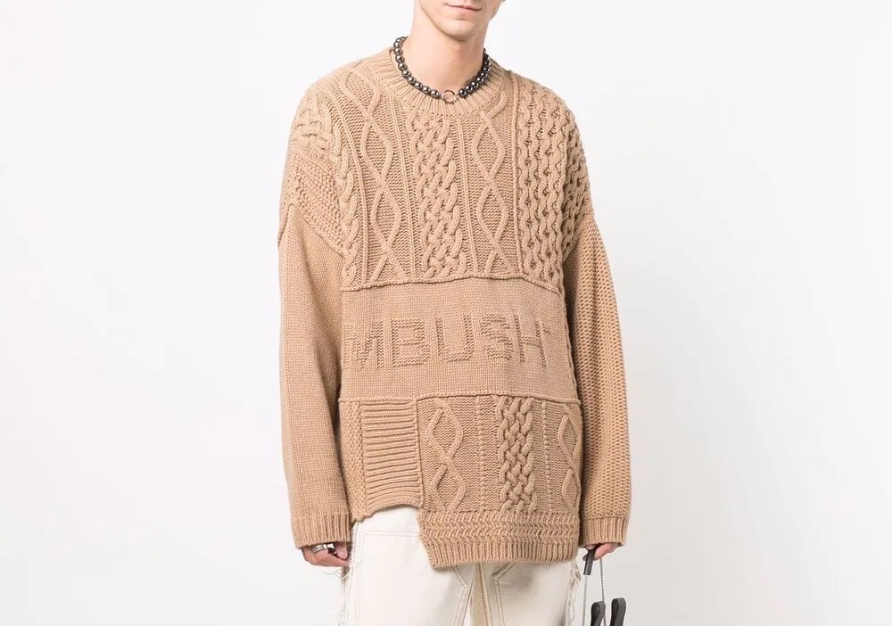 PAUSE or Skip: AMBUSH Patchwork Knitted Jumper