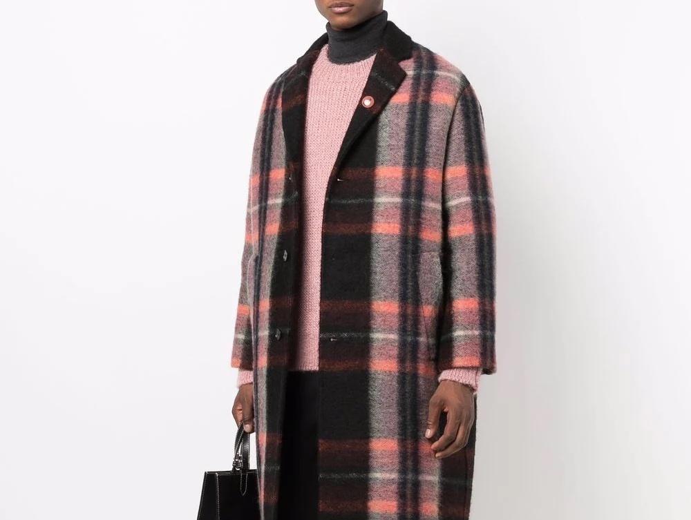PAUSE or Skip: Jil Sander Plaid Print Wool Coat