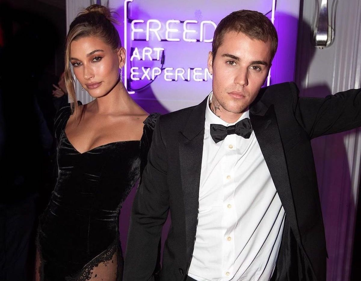 SPOTTED: Justin & Hailey Bieber Attend Gallery event in Saint Laurent