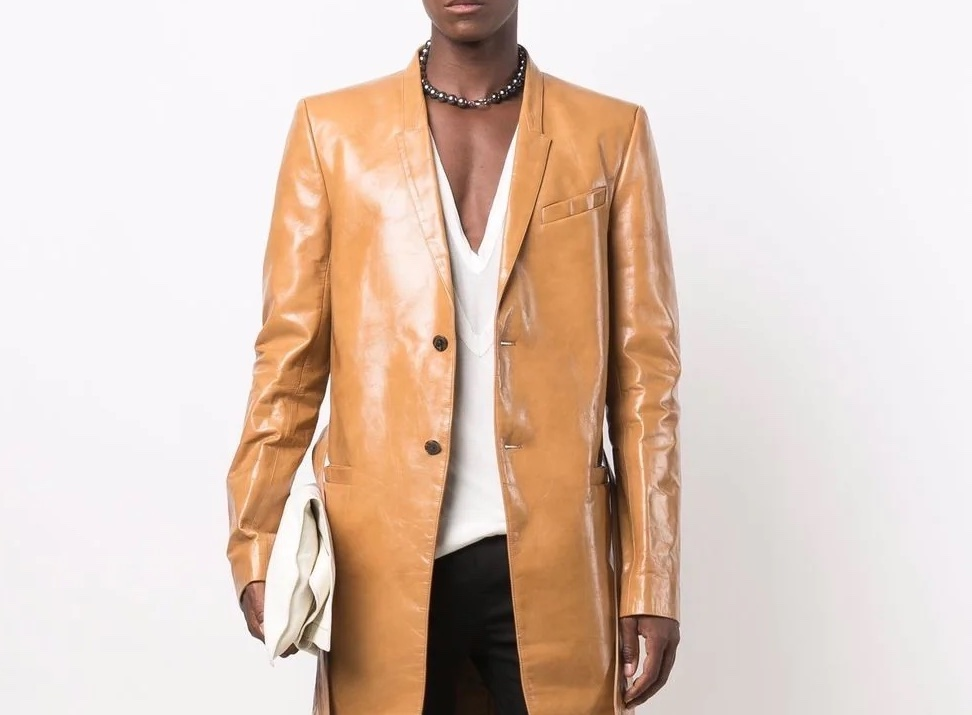 PAUSE or Skip: Rick Owens Long Belted Leather Coat