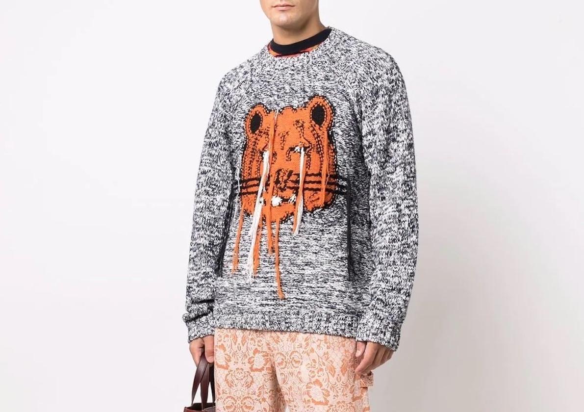 PAUSE or Skip: Kenzo Intarsia Knit Tiger Jumper