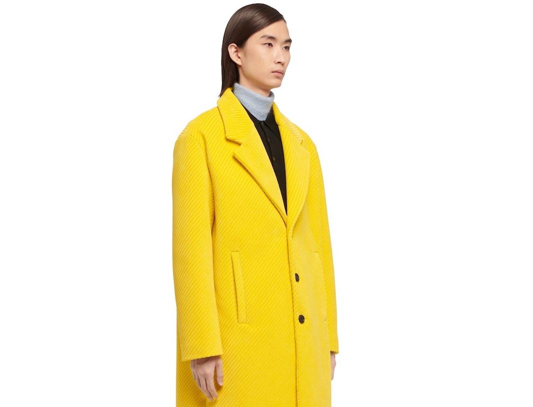 PAUSE or Skip: Prada Corduroy Coat in Yellow