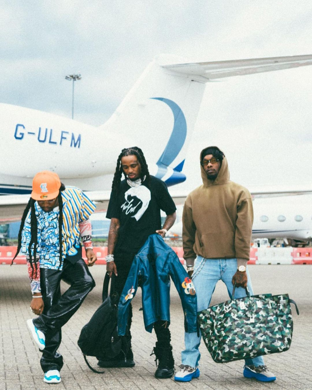 SPOTTED: Migos Flex Their Airport Outfits