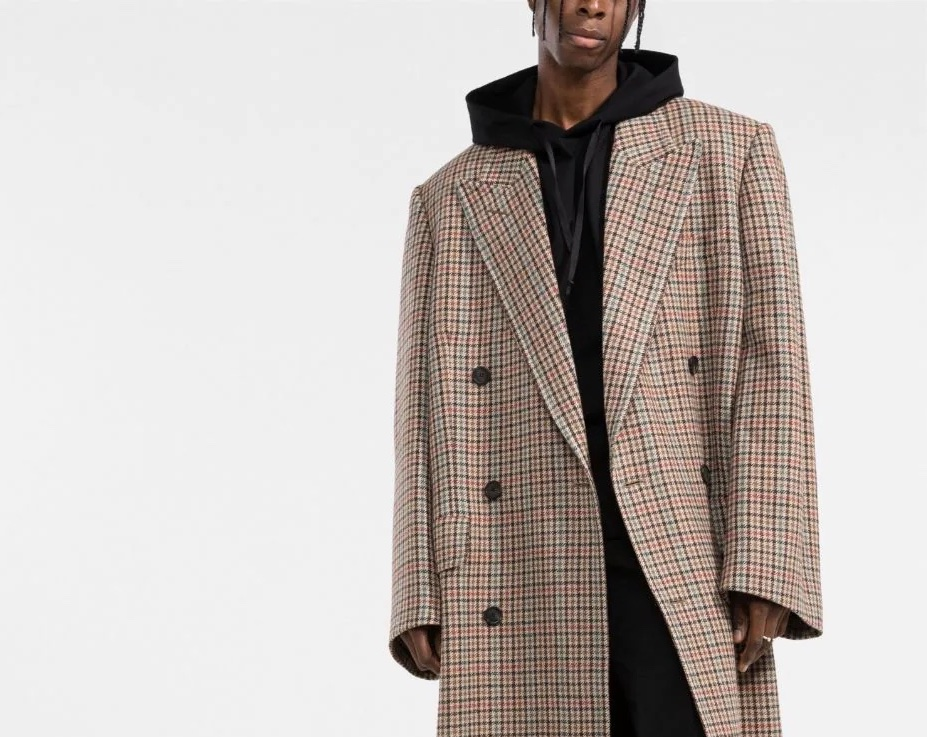 PAUSE or Skip: Balenciaga Double-Breasted Houndstooth Coat
