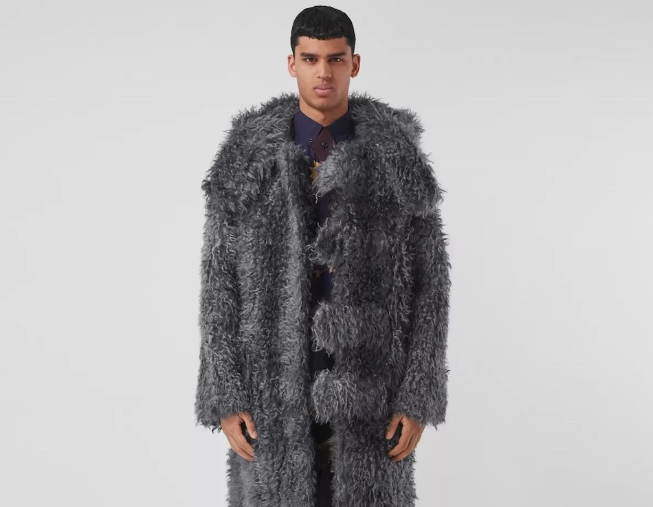 PAUSE or Skip: Burberry Hare Detail Mohair Blend Duffle Coat