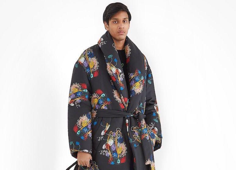 PAUSE or Skip: Fendi Black Silk Coat