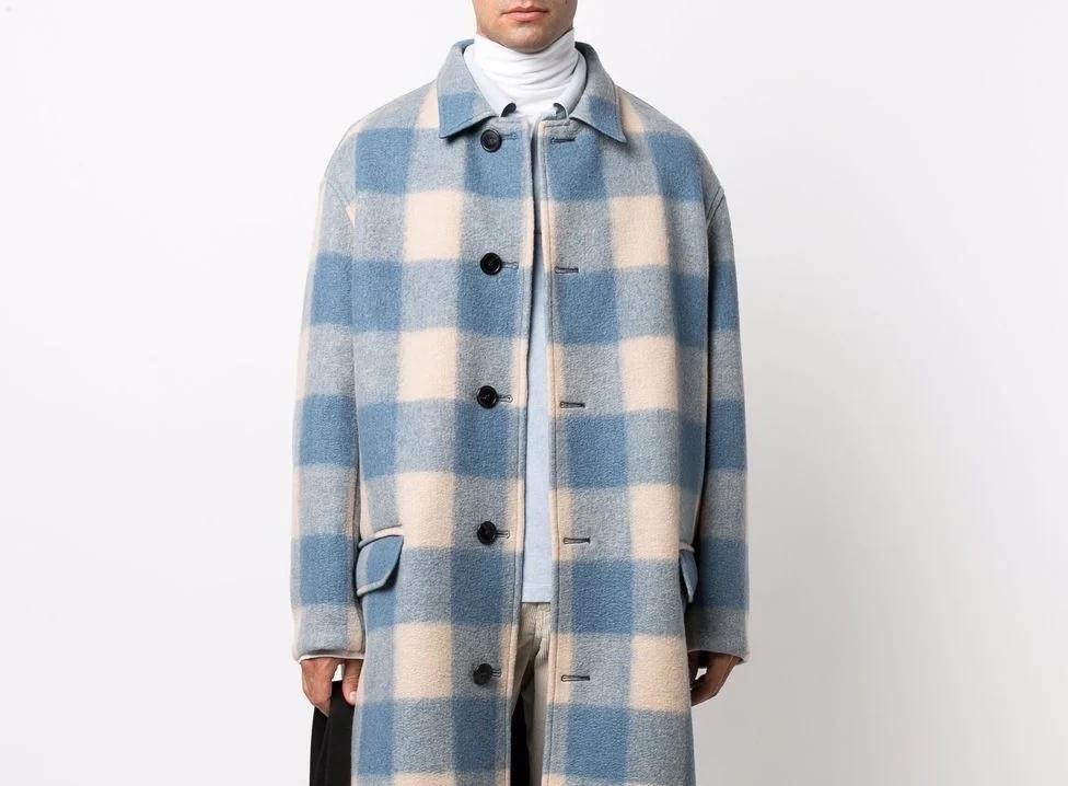 PAUSE or Skip: Isabel Marant Check Print Coat