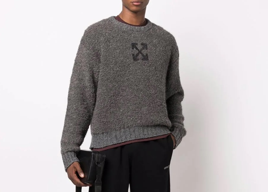 PAUSE or Skip: Off-White Arrows Logo Jumper