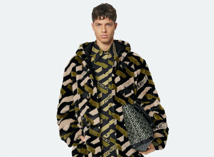 PAUSE or Skip: Versace La Greca Faux Fur Parka