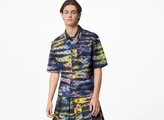 PAUSE or Skip: Louis Vuitton Zipped Monogram Tie-Dye Shirt