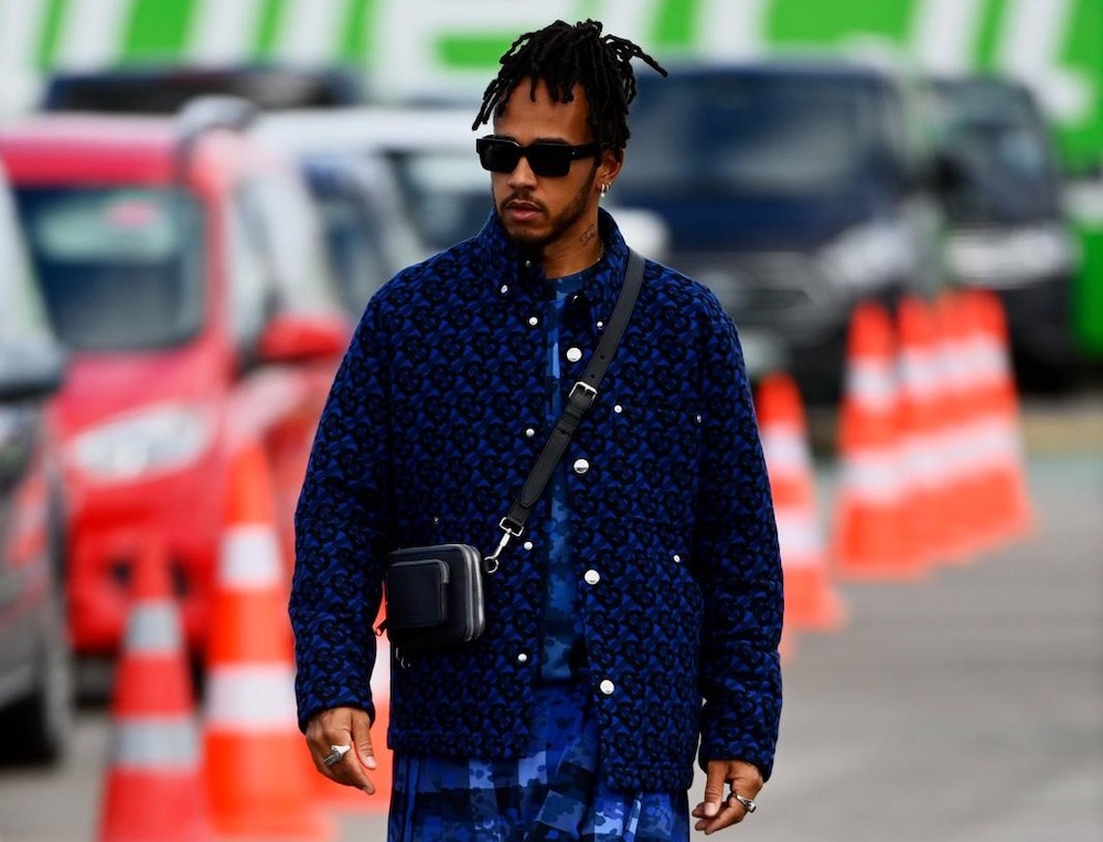 SPOTTED: Lewis Hamilton dons all-blue Burberry to Turkish Grand Prix