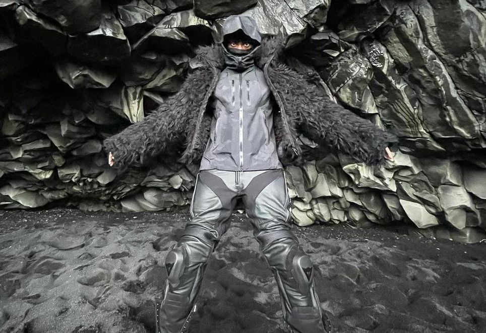 SPOTTED: Bloody Osiris dons All-Black while Exploring Iceland